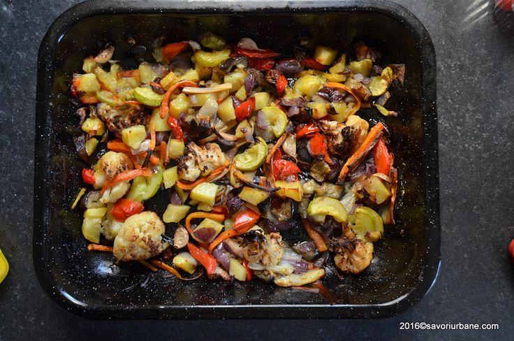 Preparare legume la cuptor la tava gratinate (2)