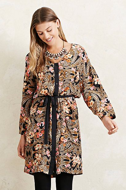 Selected Femme Baroque Shirtdress #anthropologie