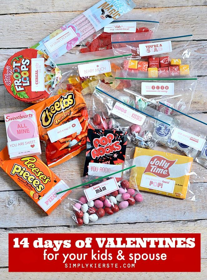 14 days of valentines for your kids & spouse. Cute way to have Valentine's day last longer. Valentine's day countdown idea.