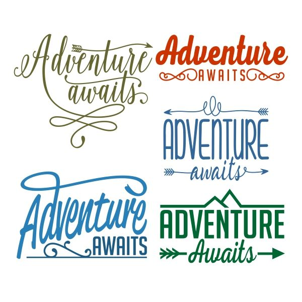 Adventure Awaits Cuttable Design Cut File. Vector, Clipart, Digital Scrapbooking Download, Available in JPEG, PDF, EPS, DXF and SVG. Works with Cricut, Design Space, Sure Cuts A Lot, Make the Cut!, Inkscape, CorelDraw, Adobe Illustrator, Silhouette Cameo, Brother ScanNCut and other compatible software.