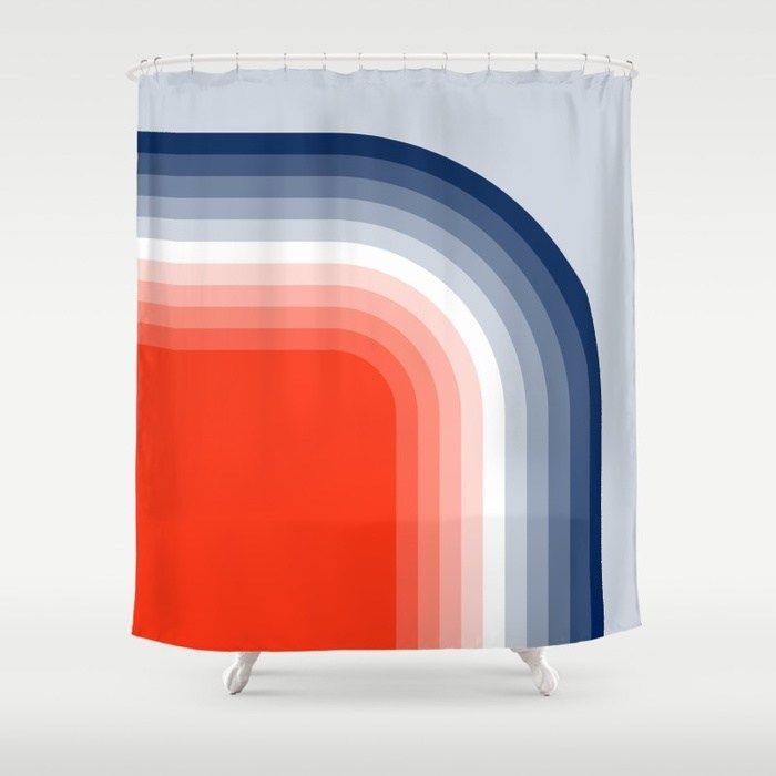 Buy 70s Stripes Rainbow Shower Curtain By Bitart Worldwide