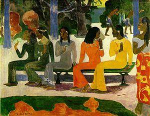 Jour de marché, Kunstmuseum, Bâle - (Paul Gauguin)
