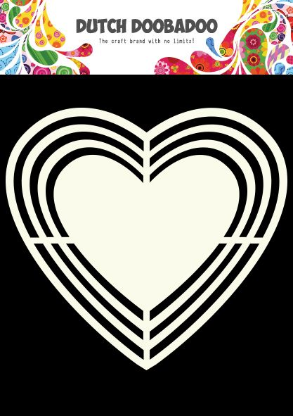 470.713.113 Dutch Doobadoo Shape Art Heart