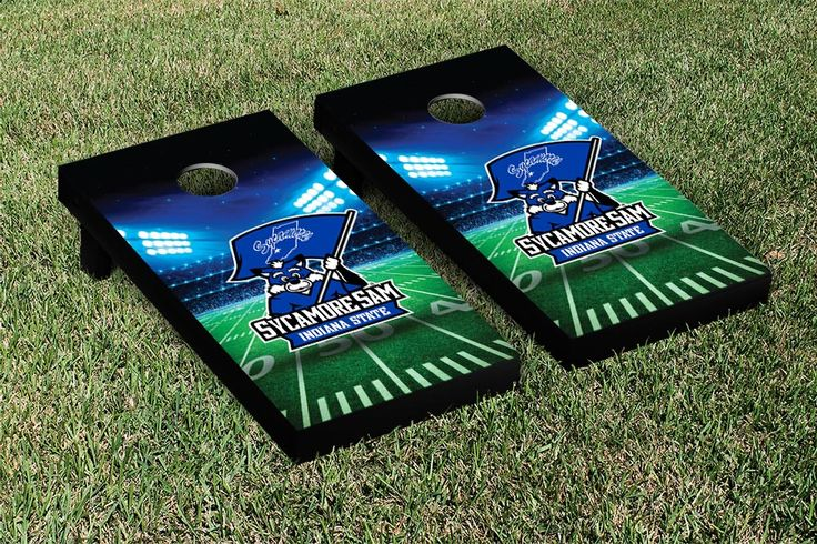 Indiana State University ISU Sycamores Cornhole Game Set Stadium Version