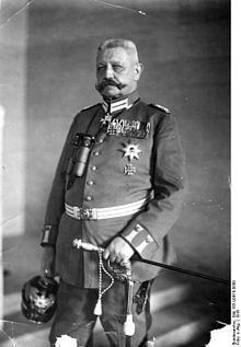 "Paul von Hindenburg German Chief of Staff 1916 - 1919. Later President of the German Reich. Hated Hitler (whom he derisively called ""the Austrian corporal"") but in the end couldn't do much to stop him."