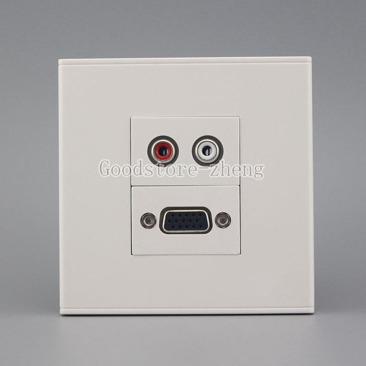 8.78$  Watch here - http://aliiwa.shopchina.info/go.php?t=32795460849 - Wall Face Plate RCA AV + VGA Connector Socket Assorted Panel Faceplate Outlet 8.78$ #magazineonlinewebsite
