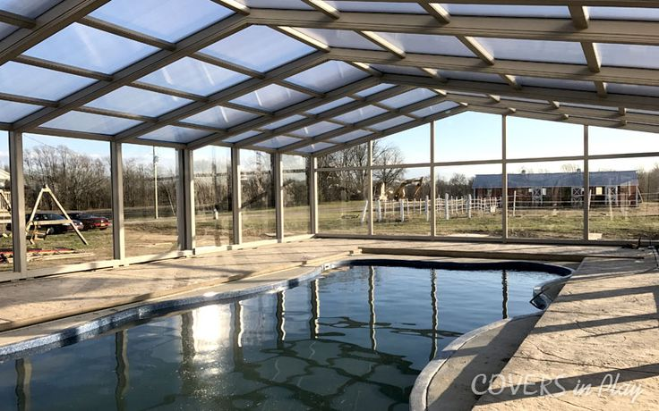 Our attached single peak retractable pool enclosure in 27 ft wide x 40 ft long. Have a look at  https://goo.gl/Zmb3f9 #PoolCover #PoolEnclosure #Swimming #SwimmingPool #Cover #Enclosures