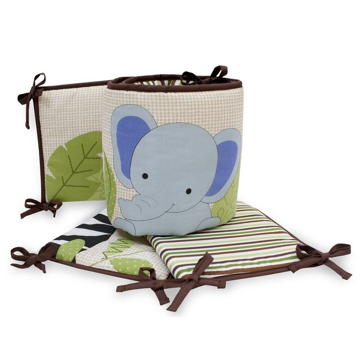 Lambs and Ivy Cot Bumper Jungle Buddies – White Rose Baby Boutique