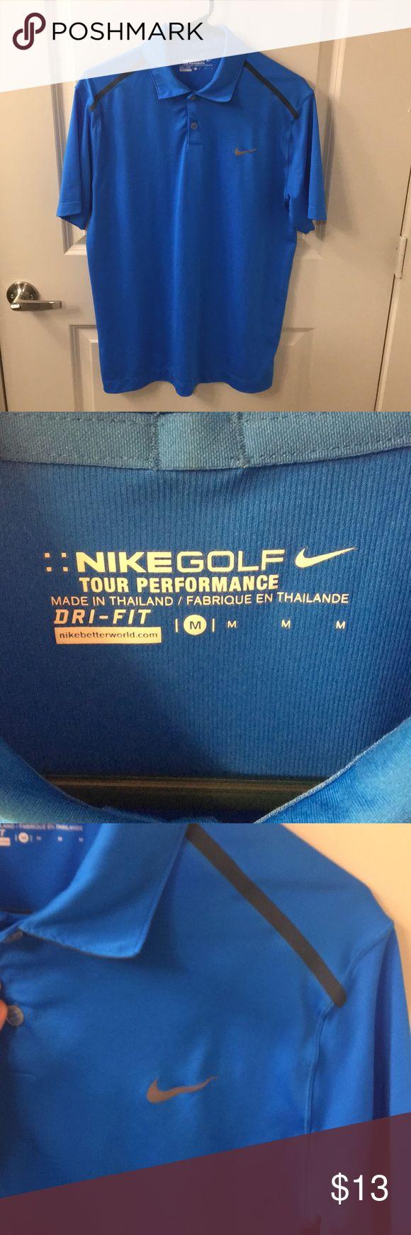 Nike men's golf shirt Very lightweight, bright blue golf shirt.  Northwood Club of Dallas logo on the right sleeve. Nike Shirts Polos