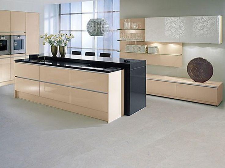 Beautiful cork flooring in a modern kitchen