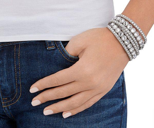 Slake Gray Dot Pulsera - Fashion Jewelry - Boutique Swarovski en línea