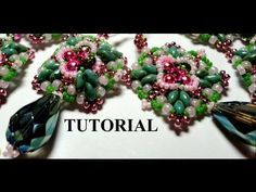 DIY Tutorial orecchini e bracciali - perline e twin beads cristalli - Ishtar - YouTube