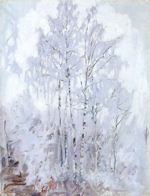 Akseli Gallen-Kallela - Frosty Birch Trees, 1894