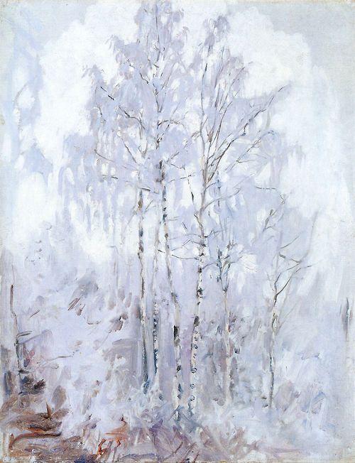 Akseli Gallen-Kallela - Frosty Birch Trees, 1894