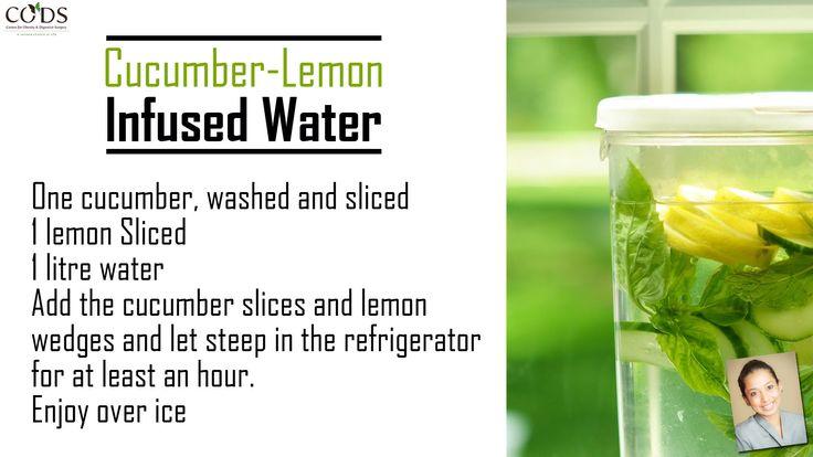 #cucumber #lemon #infuse #water #recipe #healthy #diet