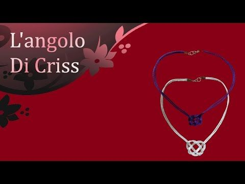 Collier cuore celtico - tutorial passo a passo - diy necklace - YouTube