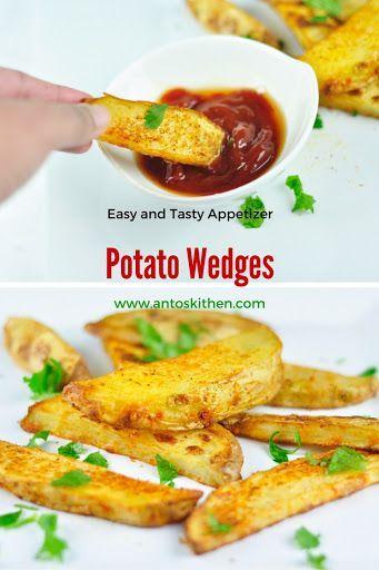 Spicy baked potato wedges. #antoskitchen #potato #wedges