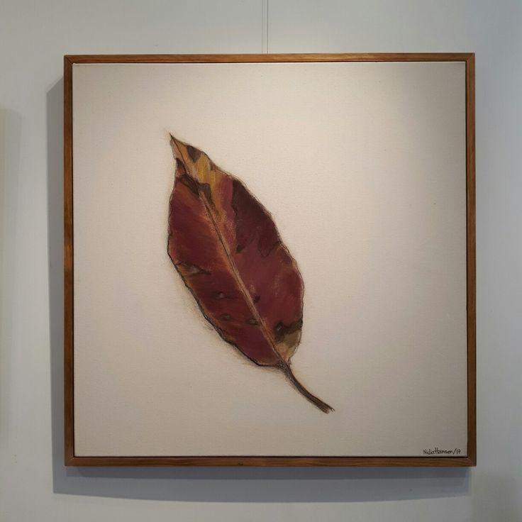 EUCALYPTUS  leaf. Mixed Media on Canvas. 92 x 92 cm. 2017.