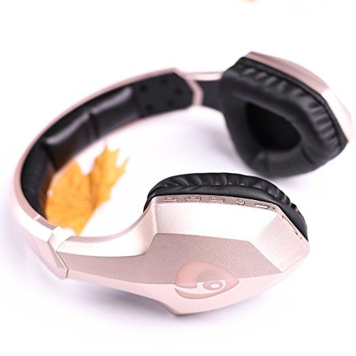 Special Offers - Wireless Bluetooth Headsets Bodecin HiFi Skin Friendly Leather Material 3D Stereo Surround Sound Sport Bluetooth Headphones for iPhone/iPad/Android Build in Mic with USB Charging Cable(Gold) For Sale - In stock & Free Shipping. You can save more money! Check It (January 13 2017 at 04:37AM)…