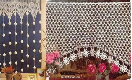 cortinas a crochet las manualidades crochet. Black Bedroom Furniture Sets. Home Design Ideas