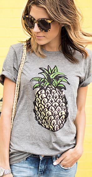 cute pineapple tee