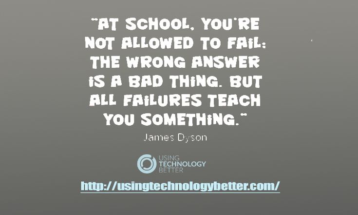 Make every failure a lesson. #quote #students #edtech #edchat #usetechbetter