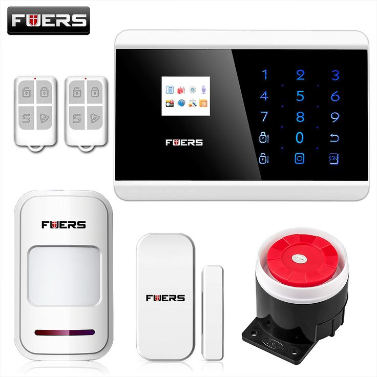 FUERS IOS Android APP Touch Keypad&TFT display 99 Wireless Zone GSM/PSTN/SMS Home PIR Voice Burglar Alarm Security System  #alarm #dashcam #stolen #safe #cctv #found #GPS #lost #tracking #security