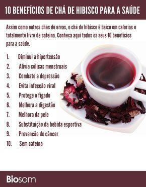 Clique na imagem e veja os detalhes dos 10 Benefícios de Chá de Hibisco para a Saúde #chádehibisco #hibisco #chá #alimento #alimentação #alimentaçãosaudável #saúde #bemestar
