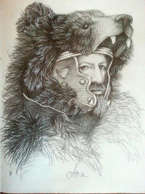 Bear mask drawing
