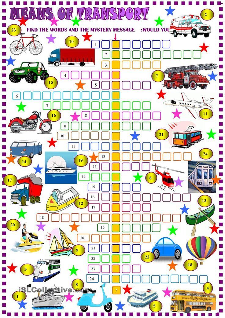 Transports: crossword puzzle
