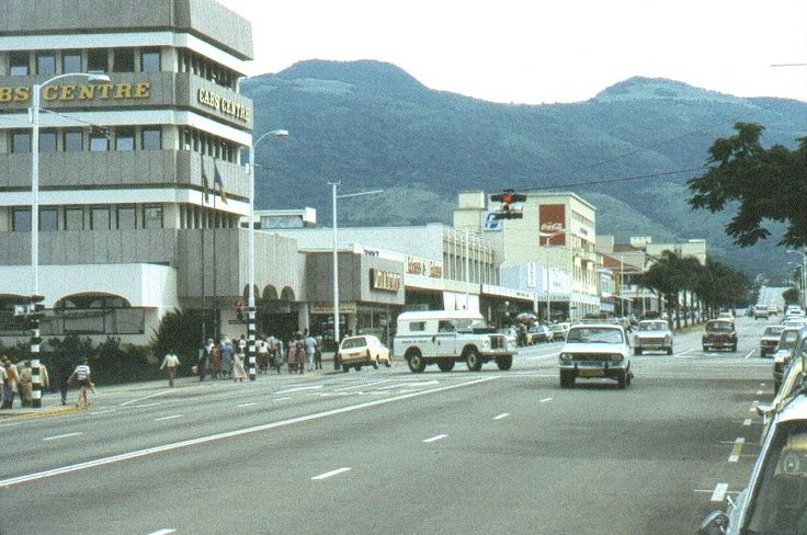 Umtali, Rhodesia - Main Street, CABS centre circa 1975