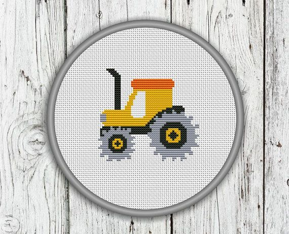 Agricultural Tractor Construction Trucks by CrossStitchShop