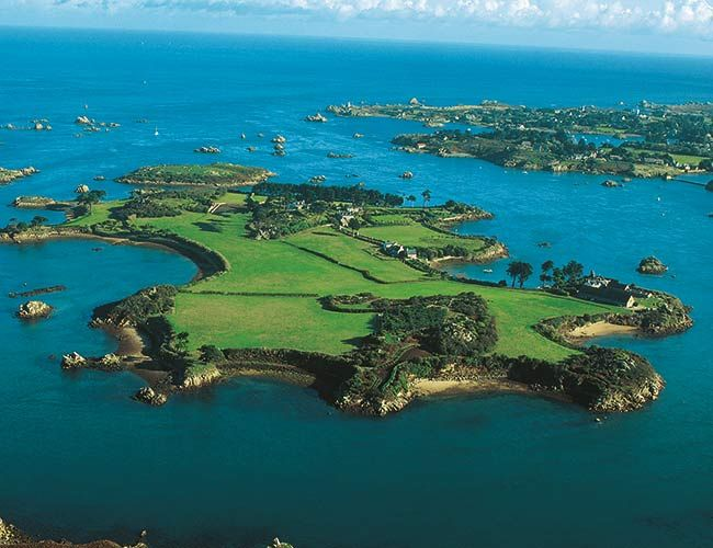 Île Biniguet Brittany, France --- Large enough to accommodate a whole host of like-minded self-sufficient families, this private island is a beautiful private island in Britanny with plenty of potential for sustainability.