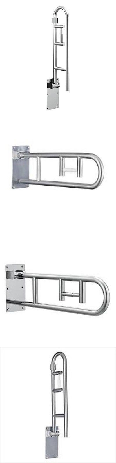 Handles and Rails: Rail Frame Bathroom Safety Grab Bar Handicap Holder Handle Aid Toilet Support BUY IT NOW ONLY: $121.99