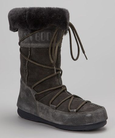 Look what I found on #zulily! Gray Vagabond Boot - Women by Moon Boot The Original #zulilyfinds
