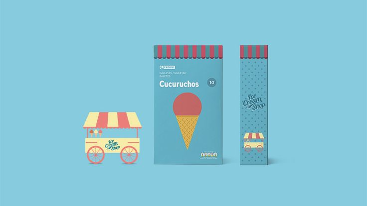 Eroski Ice Cream Wafers