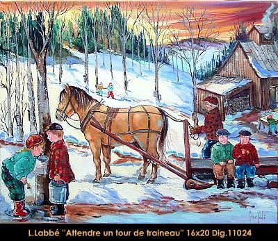 Original oil on canvas painting by Lise Labbé. Available at Le Balcon d'Art, St-Lambert Qc Canada #labbe #artnaif #kidscharacters  #winteractivity #playingoutside #sugarshack #canadianartist #quebecartist #originalpainting #balcondart #multiartltee
