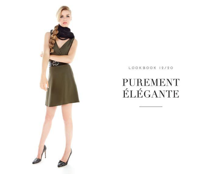 PUREMENT ÉLÉGANTE //  THEY'LL FALL FOR YOU #dress #khaki #utility #mode #fashion #femme #women #lookbook #fw16