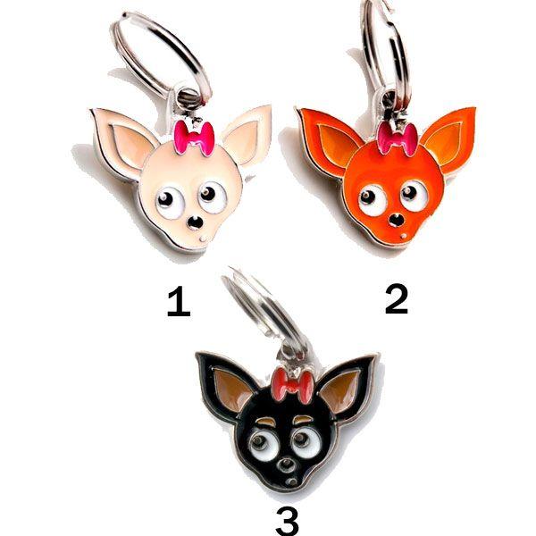 Placa Identificativa Perro Chihuahua Recomendamos grabar el nombre de su mascota y un teléfono fácil de contactar. Una vez seleccionada lachapa, los datos a grabardeber&aa...