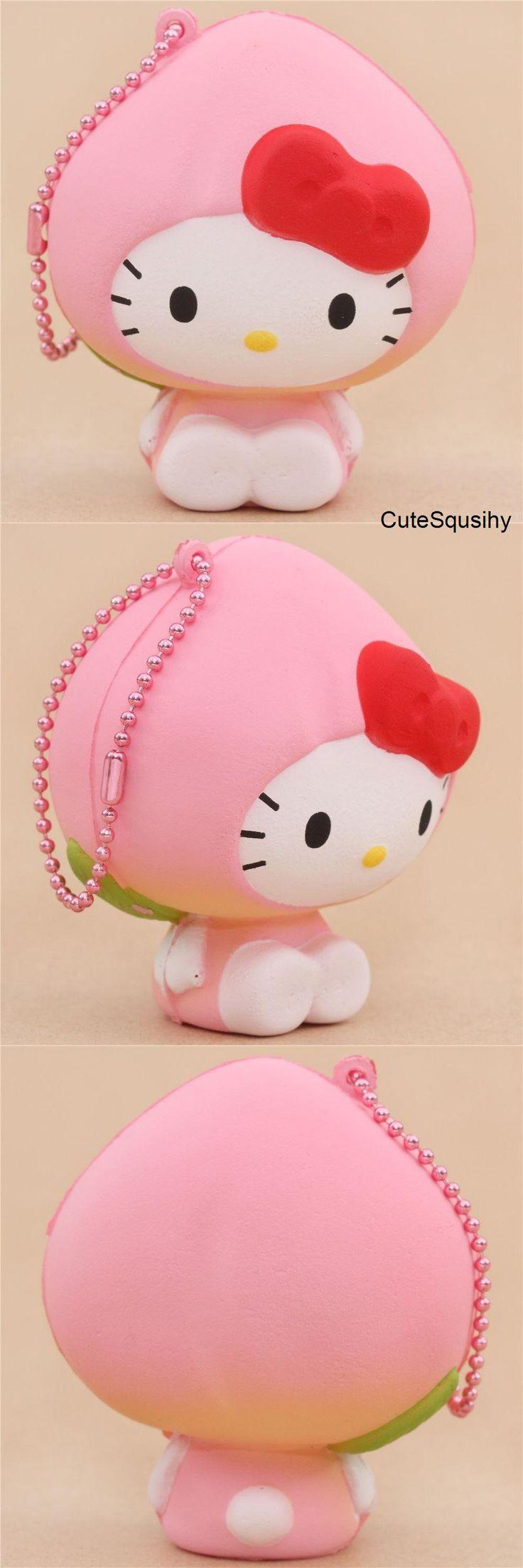 Kawaii Sanrio Hello Kitty in peach costume squishy!