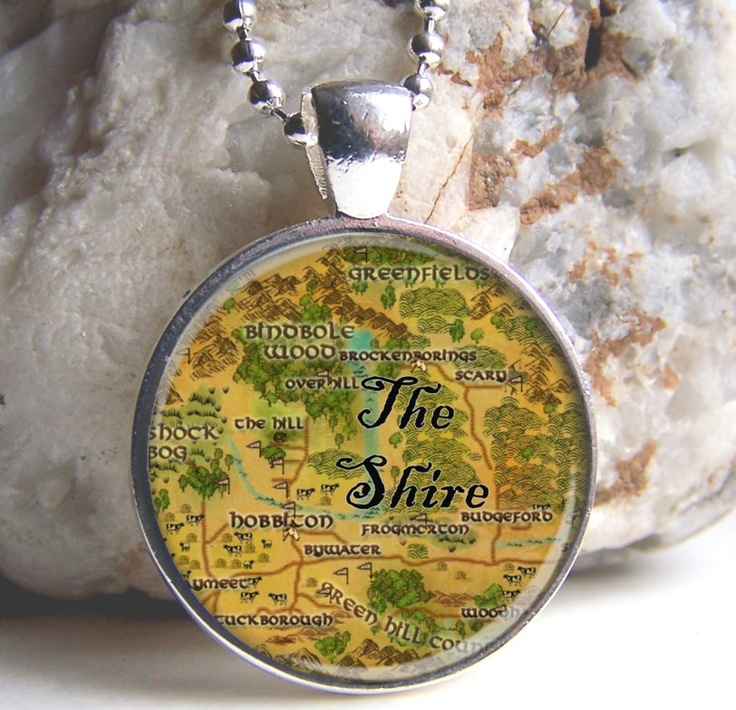 Map For Lord Of The Rings%0A Lord Of The Rings Pendant  Middle Earth Map Pendant  The Shire  LOTR Jewelry