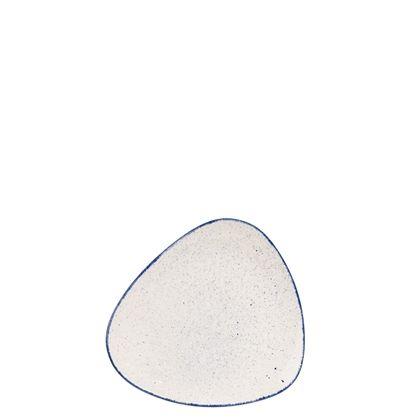 Churchill Stonecast Hints Indigo Blue Triangle Plate