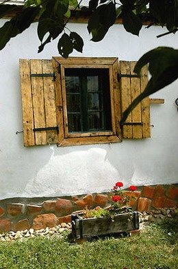 window of a farmhouse in Hungary