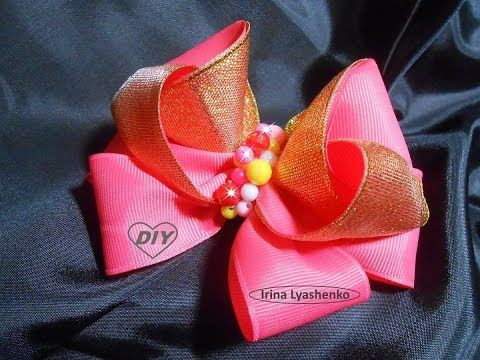 Бант из репсовых лент МК/DIY BOW Grosgrain ribbon/ PAP Arco Fita do grosgrain - YouTube