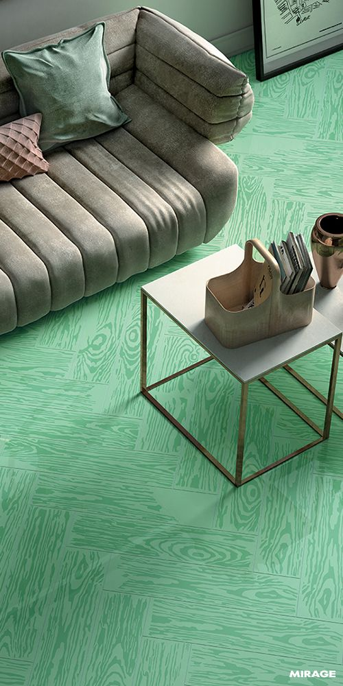 #Greenery is the new black! PoP Green | The PoPjob #colour range includes six #colours characterised by neutral and pastel tones | #design #designinspirations #interior #interiordesign #studiojob #porcelaintile #studio #woodeffect #office #green #ceramic #PoPjob