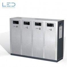 Wertstoff-Behälter W4 Wertstoffbehälter W4, Abfalltrennbehälter, Abfallbehälter für Papier, PET, Kehricht, Alu und Ascher