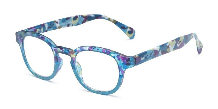 Turquoise Blue Geek Rectangular Festival Fashion Glasses Retro Nerd Clear Lens