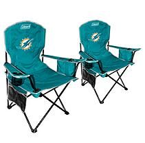 NFL Miami Dolphins Cooler Quad Chair 2 pack