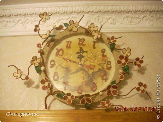 Декор предметов Мастер-класс Моделирование конструирование Шпагатные часы МК Клей Проволока Шпагат фото 1