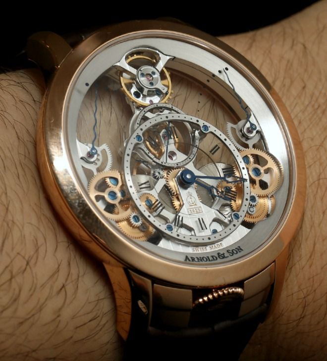 sheer beauty Arnold & Son Time Pyramid watch